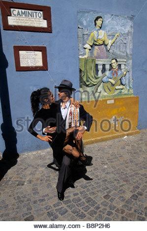 la boca, tango, buenos aires, argentina - Stock Photo