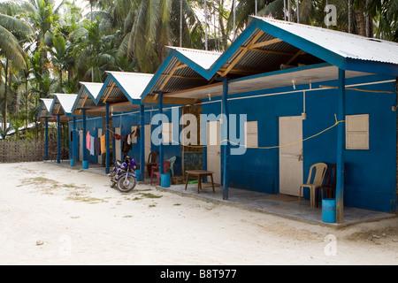 India Andaman and Nicobar Havelock island sunrise resort concrete built accommodation - Stock Photo