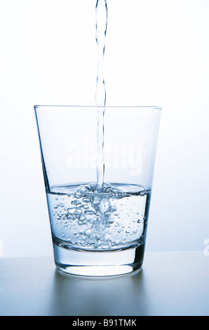 Water in a glass close-up. - Stockfoto