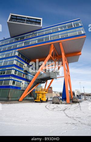 modern office building in Helsinki Finland - Stock Photo