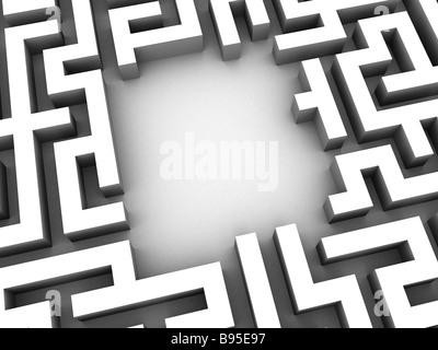 silver maze - Stock Photo