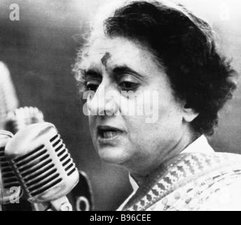 Indian Prime Minister Indira Gandhi - Stock Photo