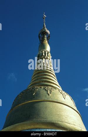 Myanmar (Burma), Yangon (Rangoon), Shwedagon Pagoda - Stock Photo