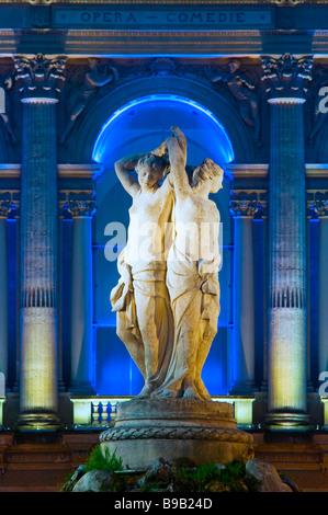 PLACE DE LA COMEDIE MONTPELLIER FRANCE - Stock Photo
