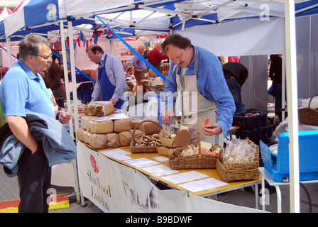 Royal Festival Hall organic food market London - Stock Photo