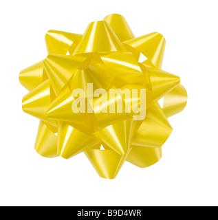 Yellow bow - Stock Photo