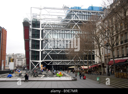 The Pompidou Centre Paris France - Stock Photo