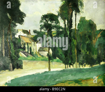 Paul Cezanne 1839 1906 Road to Pontoise Pushkin Museum of Fine Arts Reproduction - Stock Photo