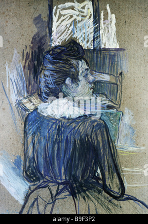 A Woman by the Window by Henri de Toulouse Lautrec 1889 Reproduction Collection of the State Pushkin Museum of Fine - Stock Photo
