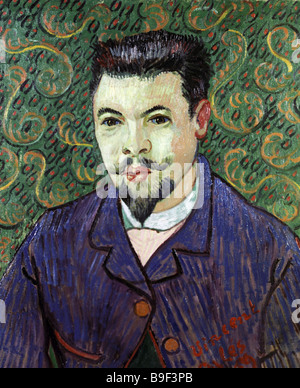 Portrait of Doctor Rey by Vincent van Gogh 1889 Reproduction Collection of the State Pushkin Museum of Fine Arts - Stock Photo