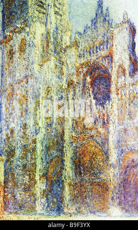 Claude Monet 1840 1926 The Rouen Cathedral in the Evening 1894 State Pushkin Fine Arts Museum Moscow - Stock Photo