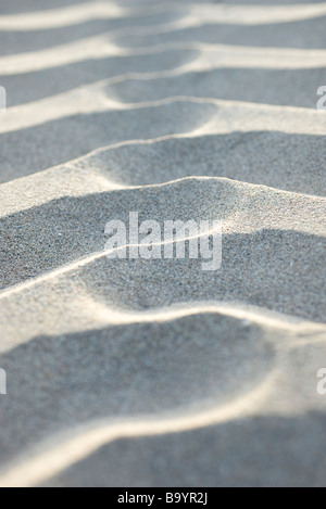 Rippled pattern on sand - Stock Photo