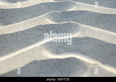 Rippled sand, extreme close-up - Stock Photo