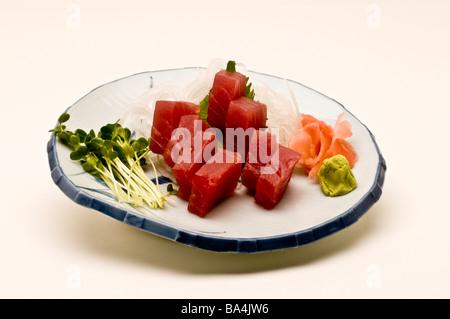 Nigiri sushi on a plate - Stock Photo