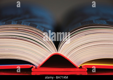 Top of an open book - Stock Photo