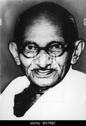 Gandhi, Mohandas Karamchand called Mahatma, 2.10.1869 - 30.1.1948, Indian politician, portrait, 1930s,  30s, - Stockfoto