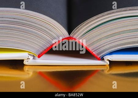 Top of an open book - Stock Photo