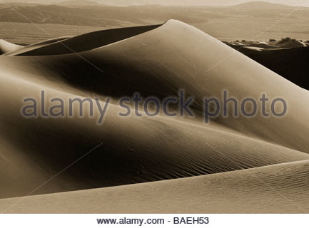 Sand Dune at Mesquite Flat Sand Dunes, Death Valley California - Stockfoto