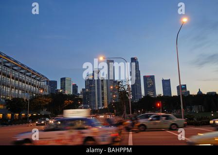 Singapur by Night - Stock Photo
