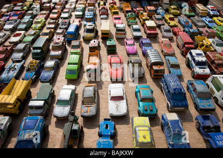 Toys Cars in a Traffic Jam - Stock Photo