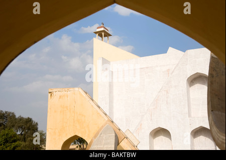 Jantar Mantar Jai Singh s II observatory Brihat Samrat Yantra Giant Sundial Jaipur India - Stockfoto