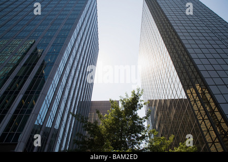Skyscrapers in vancouver financial district - Stock Photo