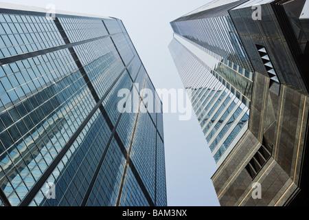 Skyscrapers in hong kong - Stock Photo