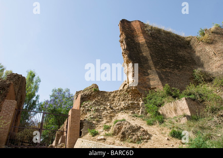 Old ruins of a building, Indus Valley Civilization, Jammu and Kashmir, India - Stock Photo