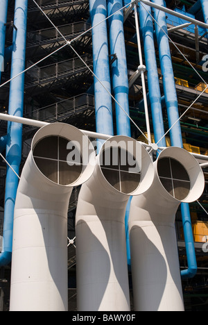 Centre Pompidou in Paris, France Detail - Stock Photo