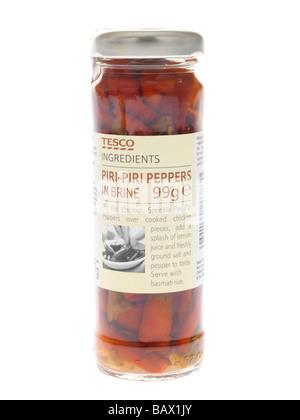 Jar of Piri Piri Peppers - Stockfoto