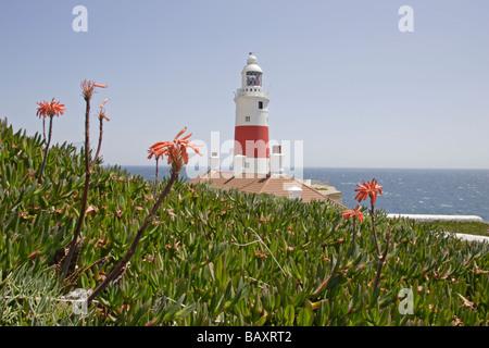 Europa point lighthouse Gibraltar - Stock Photo