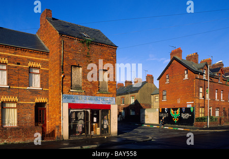 The Falls Road, Catholic community, Belfast, County Antrim ...