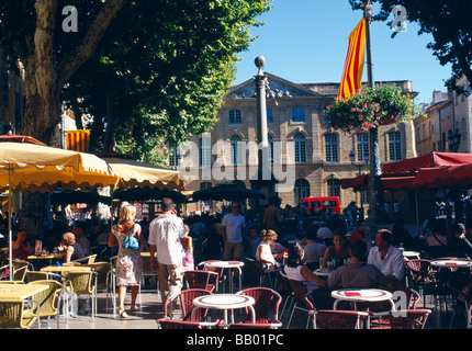 Aix En Provence, Place de L'Hotel de Ville - Stock Photo