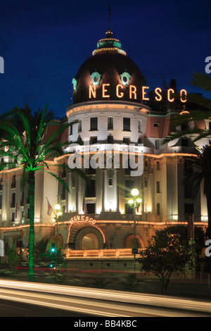 Hotel Negresco on Promenade des Anglais in Nice, France - Stock Photo