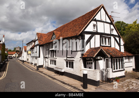England Berkshire Bray Village High Street The Shottery historic timber framed house - Stock Photo