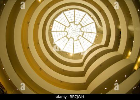 Guggenheim Museum in New York City, USA - Stock Photo