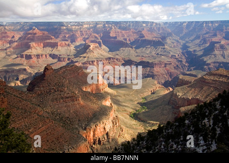formations at grand canyon, south rim, arizona, usa stock
