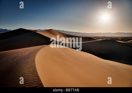 The Mesquite Sand Dunes in Death Valley National Park in California USA - Stockfoto