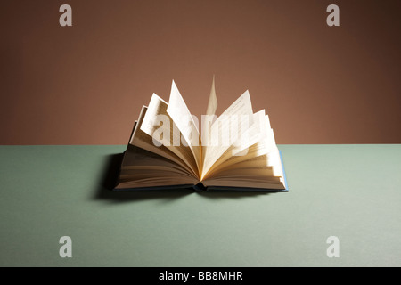 Open hardback book - Stock Photo