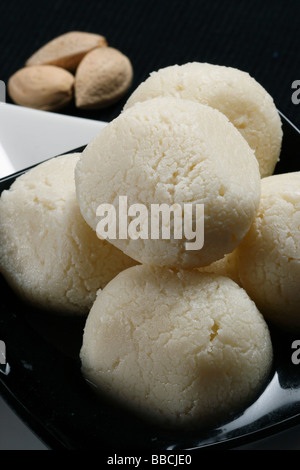 Rasagolla is a traditional cheese based syrupy dessert origin from Bengal it is regarded as the 'king of all Indian - Stock Photo