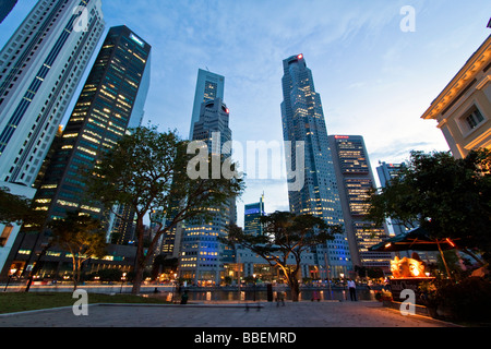 Asia Singapore singapur skyline panorama - Stock Photo