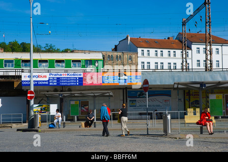 Autobusove nadrazi the long distance bus station in Florenc in Prague Czech Republic Europe - Stock Photo