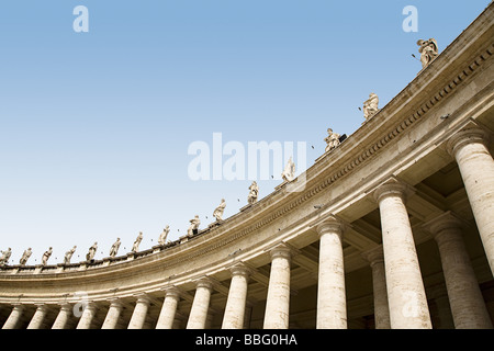 Low angle view of statues in st peters square - Stock Photo