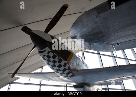 Imperial War Museum in Duxford Cambridge containing a huge selection of the worlds aircraft and also a working airstrip, - Stock Photo