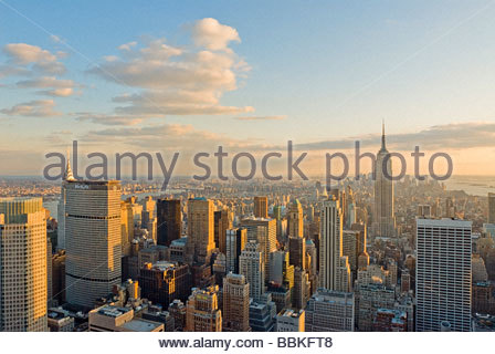 View of Midtown Manhattan and Empire State Building, New York City. - Stock Photo