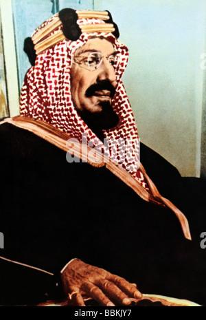 Saudi Arabia Portrait Of King Abdul Aziz Al-Saud First Monarch Of Saudi Arabia - Stock Photo