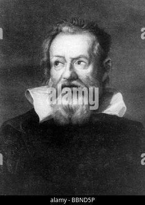 Galilei, Galileo, 15.2.1564 - 8.1.1642, Italian scientist (astronomer, physicist) and philosopher, portrait, after - Stock Photo