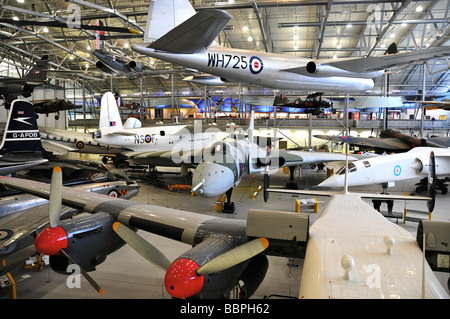 Inside 'Airspace' at the Imperial War Museum, Duxford, UK - Stock Photo