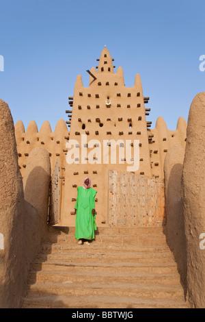 Great Mosque of Djenne, Djenne, Mopti Region, Niger Inland Delta, Mali, West Africa - Stock Photo