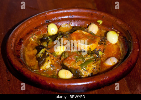 Fish Tagine in Rabat Morocco - Stock Photo